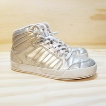 Adidas Sneakers Size 6.5 Gold Sneakers Hi-Top Laces Basketball Women's S... - $9.89