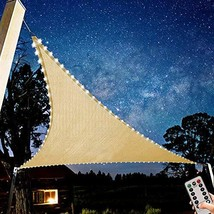 Naconic Triangle Patio Sun Block Shade Sail, 10' x 10' x 10' Waterproof ... - $41.29