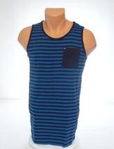 Quiksilver Blue Stripe Sleeveless Tank Shirt Top Youth Boy's Large L NWT - $18.55