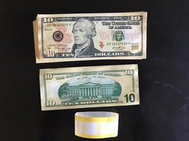 1.000 Prop Money Used Replica 10s All Full Print For Movie Video Films Etc. - $25.99