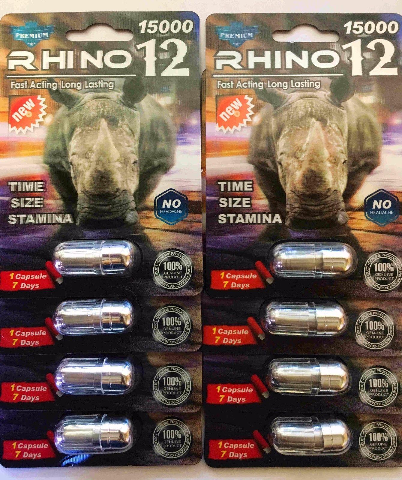 100% Genuine Rhino 12 Premium 15000 Male Sexual Performance Enhancer image 7