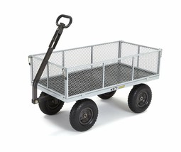 Gorilla Carts GOR1001-COM Heavy-Duty Steel Utility Cart with Removable S... - $171.69