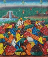 Signed Original Vintage & Rare Haitian Painting by Nenel HAITI - $489.99