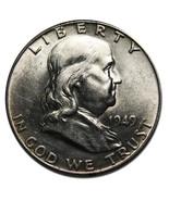 1949 Franklin Silver Half Dollar Coin Lot# A 1945 - €29,18 EUR