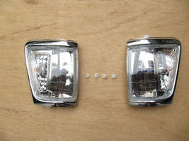 FOR TOYOTA PICKUP HILUX 4WD CHROME CORNER LAMP INDICATOR 1988-97 W/CLIPS - $59.40