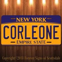 Corleone The Godfather New York Aluminum Vanity License Plate New - $12.82
