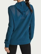 Victoria's Secret Sport Smooth Terry & Mesh Full Zip Up Hoodie Jacket Bl... - $29.11