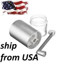 Manual Coffee Grinder Beans Rice Hand DIY Grinding Machine Aluminum USA - $18.80