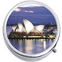 Sydney Opera House Australia Medicine Vitamin Compact Pill Box - $9.78