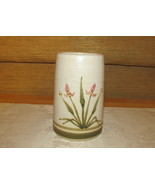 "WHYNOT NC pottery vase iris flowers 5 1/8"" tall excellent - $14.99"