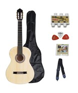 ADM 39 Inch Student Classical Guitar Package- Natural Matte - $155.96