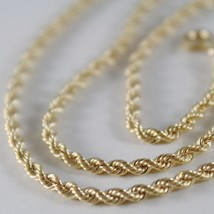 Braided Rope Chain in Yellow 750 18k, 40 45 50 60 cm thickness 2.5 MM image 2