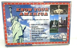 1982 Know Your America Cadaco Family Board Game USA History 100% Complete LOOK! - $17.23