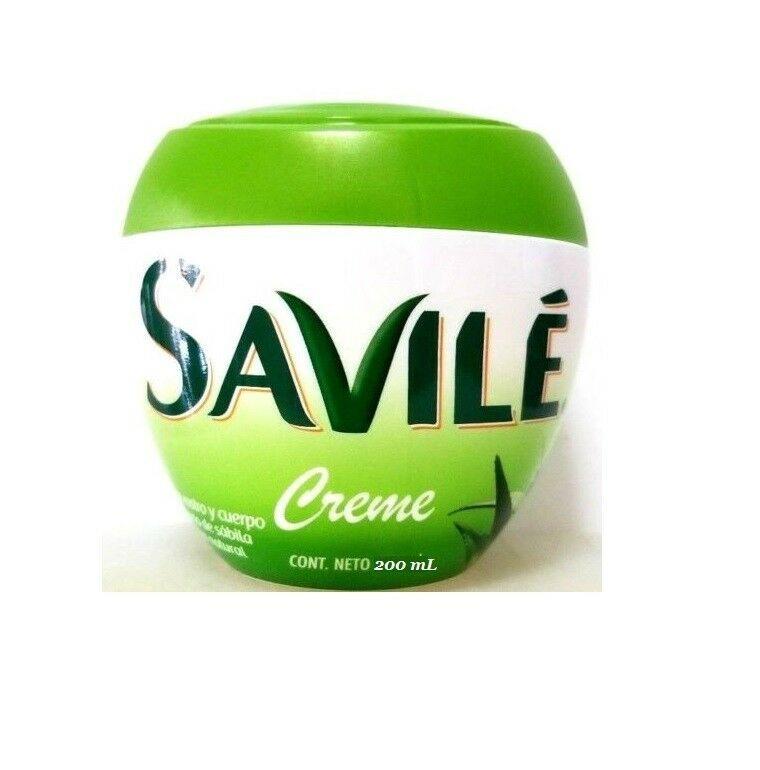 SAVILE Aloe Vera Pulp BODY Cream Crema Para Rostro Cuerpo Extraco Sabila 7.06 Oz