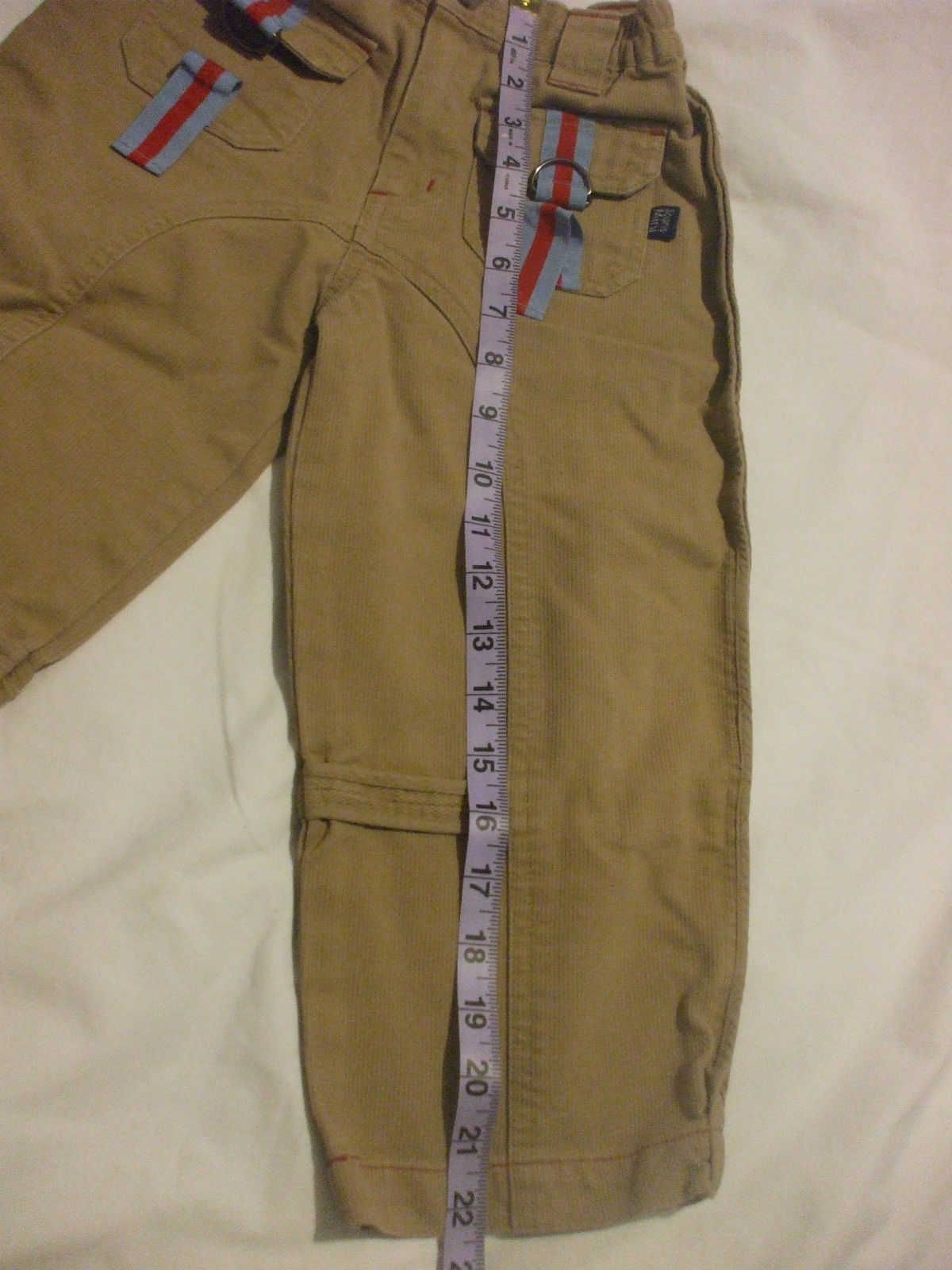 Brown Corduroy Pants With Red Detailing 100% Cotton Size 3X Souri Mini