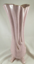 """VINTAGE USA Tall PINK  SCALLOPED 920 VASE 13"""" TALL MCM Melty P19 - $9.99"""
