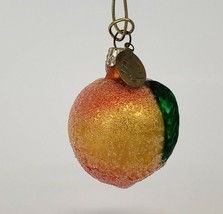 Vintage Apricot glass Merck Family's Old World Christmas Ornament - $14.99
