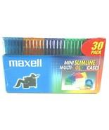 Maxell Mini Slimline Multi-color Cases 30 Pack - $18.67