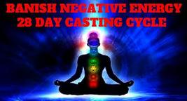 Aura cleansing 28x day spell casting banish negative energy, draw good fortune - $99.97