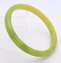 VTG Green Yellow Marbled End of Days BAKELITE TESTED Bangle Bracelet - C - $123.75