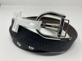Michael Kors Reversible Black MK Print Women's Belt Sz M - $29.99