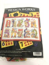 Design Works Cross Stitch Kit 1 2 3 Bears Rea Counting 12 x 18 New Unopened Rare - $39.59