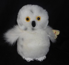 "9"" AURORA WORLD WHITE SPOTTED SNOWY OWL STUFFED ANIMAL PLUSH SOFT TOY W/... - $22.21"