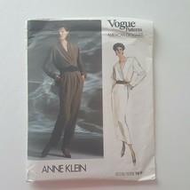 Vogue American Designer Anne Klein 1916 Blouse Skirt Pants Sewing Patter... - $10.88
