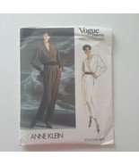 Vogue American Designer Anne Klein 1916 Blouse Skirt Pants Sewing Patter... - $10.88
