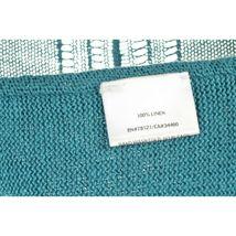 Eileen Fisher sweater cardigan SZ L teal 100% linen knit pockets soft long s image 7