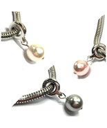 Swarovski Pearl Bracelet Charm beads Crystal Jewelry Pendant Necklace St... - $9.66