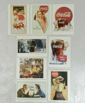 Set of 8 1991 Coca Cola Vintage Advertising Postcards Reproductions 1940s - $19.79