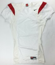 Nike Performance Vented Football Game Jersey Men's Large White Red 229475 - $22.51