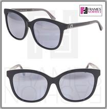 GUCCI 0082 Oversized Crystal Black Silver Mirrored Sunglasses GG0082SK Women - $301.95