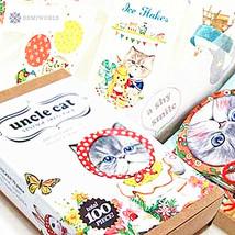 100pcs/set/Korea Kawaii Uncle Cat Bookmark set/20pcs bookmark+70pcs stic... - $7.25