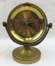 VTG QUARTZ SHIP'S TIME CLOCK MARINE HEAVY BRASS NAUTICAL - $79.00