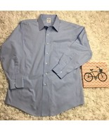 MENS BROOKS BROTHERS BLUE LONG SLEEVE POINT COLLAR 346 SLIM FIT 16 1/2  ... - $24.75