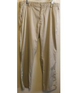 Men's Nike Golf Dri Fit Pants Tan Brown 34 x 32 Casual Outdoor Lightweight - $29.02