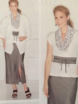 Simplicity Sewing Pattern 1920 Misses Skirt Top Jacket Scarf Size 20W-28W New - $16.60