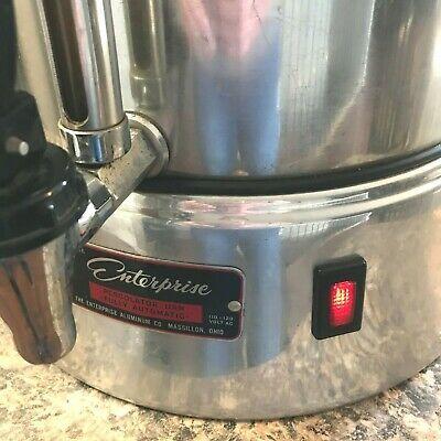 Vintage Enterprise Coffee Percolator 58 cup Urn Model AP48N WORKS Glass Knob LB image 12