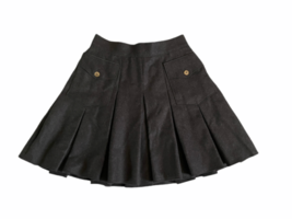 Dolce & Gabbana Charcoal Women Wool Lined Pleated Skirt Made in Italy  S... - $49.99
