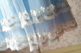 Light-blue Lace Tutu High Waist Dress Blue Flower Girl Dress Birthday Dress NWT image 2