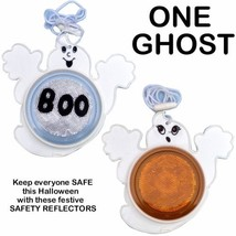 HALLOWEEN SAFETY REFLECTOR GHOST TRICK OR TREAT NECKLACE COSTUME PARTY NEW - $8.90