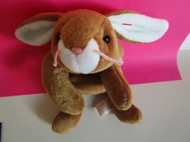 "TY Beanie Babies Original BUNNY RABBIT ""EARS"" brown & white PLUSH TOY  1995 - $8.98"