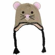 Neff Unisex Critter Mouse Face Beanie Tassel Knit Winter Ski Snowboard Hat NWT