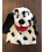 White And Black Spotted Dog Hand Puppet Dalmation Soft and Cuddly - $6.15
