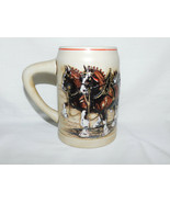 1987 Budweiser World Famous Clydesdales Beer Stein 5 1/2 Inches Tall - $15.99
