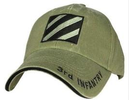 Us Army 3RD Infantry - U.S. Army Od Green Military Baseball Cap Hat - $31.99