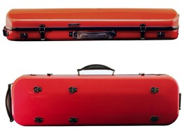 Tonareli Violin Oblong Fiberglass Case- Dark Red 4/4 VNFO 1004 - $229.00