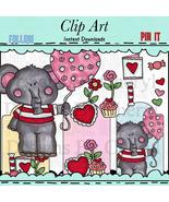 Valentine Elephant Clip Art - $1.35